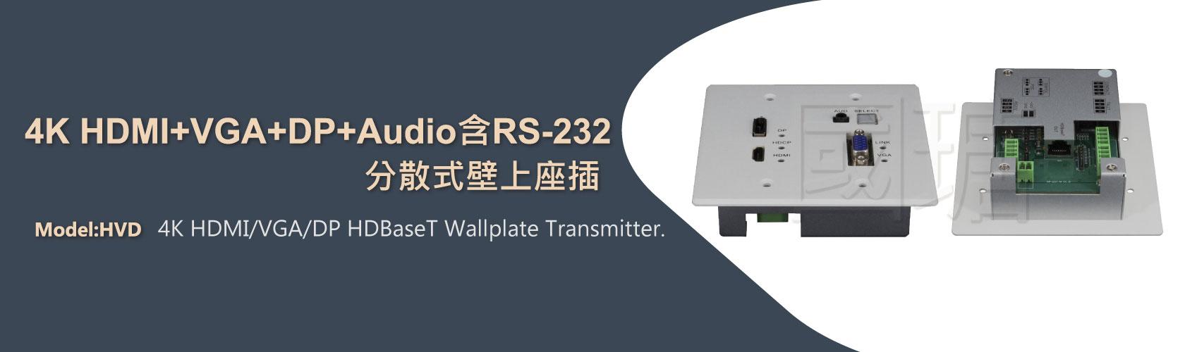 2021 4K HDMI、DP、VGA分散式延伸壁上座插, HDBaseT延伸技術, 壁掛式影音訊號延長器 | 台灣ACAFA國瑭